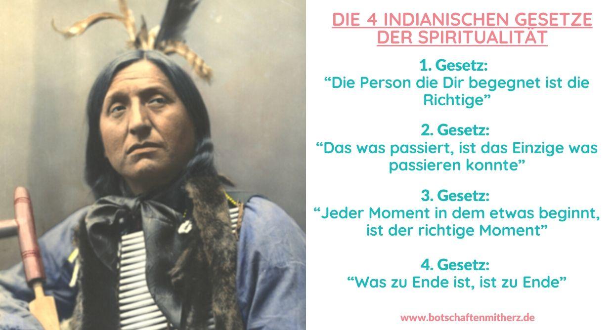 Die 4 indianischen Gesetze