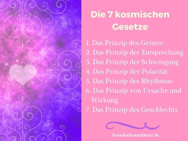 Die 7 kosmischen Gesetze