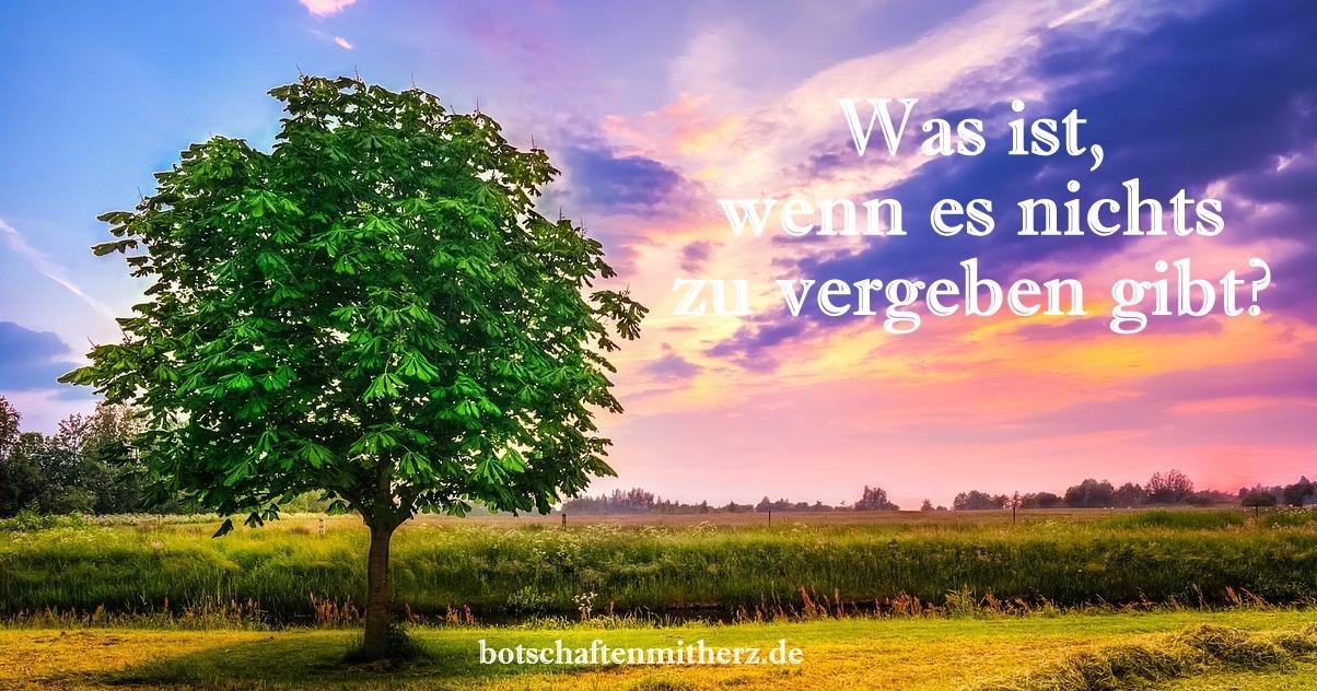 Was ist mit Vergebung?