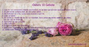 oshos 10 gebote liebe gebet wahrheit leben