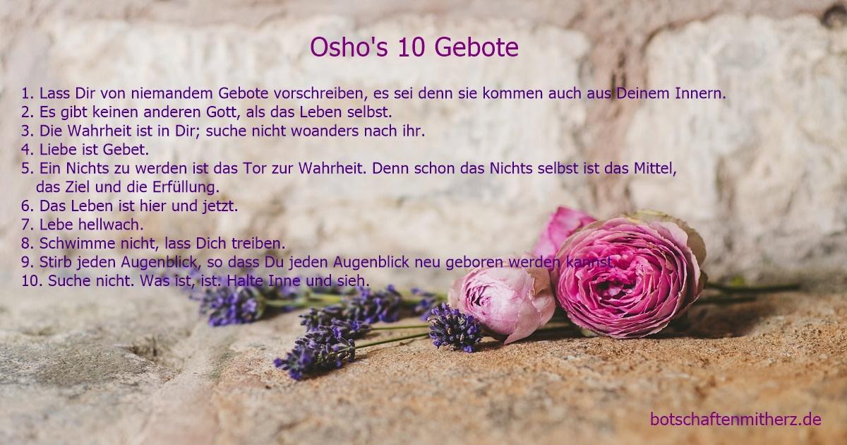 10 Gebote von Osho