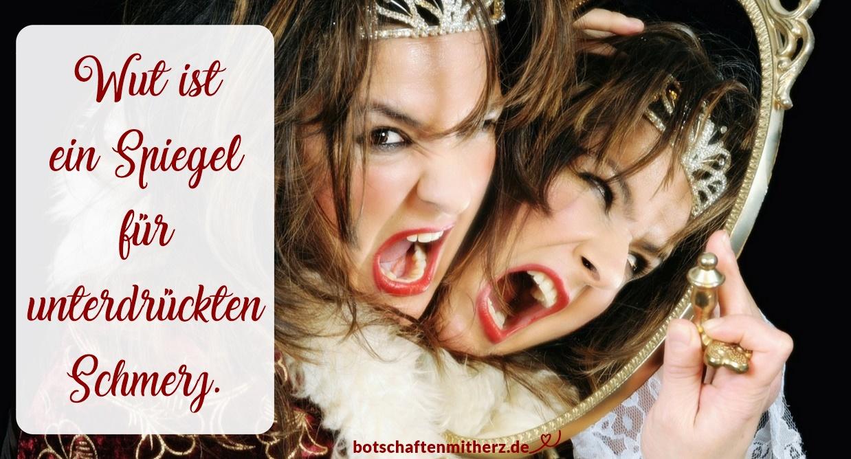 Wut ist ein Spiegel für unterdrückten Schmerz